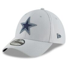 DALLAS COWBOYS 2018 NFL NEW ERA 39THIRTY TRAINING CAMP GRAY FLEX HAT CAP S/M $32