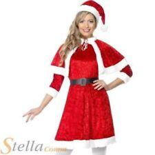 Disfraces de mujer de poliéster de navidad en color principal rojo