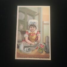 Antique Ivorine Cleanser Victorian Trading Card Glastonbury CT