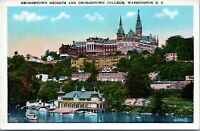 1915 Georgetown Heights College University Washington DC Postcard BS