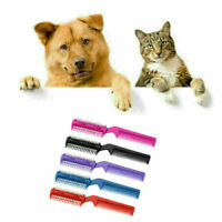 Pet Hair Dog Puppy Cat Long Hair Trimmer Grooming Brush Comb Blade Supply D L6K0