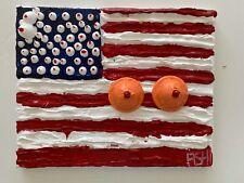 "Expressionismus POP Art Kunst Gemälde: ""United Tits Of America"" Artist: FISH"
