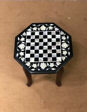 18''  Marble kids children game Chess table Top Inlay Stone with stand