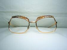 Harupel eyeglasses hexagonal Art Deco square frames Gold plated women Nos vintag