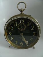 "1918-1935 WESTCLOX BIG BEN ""STYLE 1a"" Alarm Clock Nickel Finish - Working"