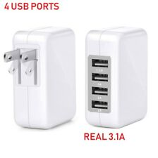 Fast 3.1A 15W High Speed 4 Port USB Wall Charger Portable for iPhone,Samsung,LG