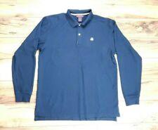Brooks Brothers Mens Performance Knit Long Sleeve Polo Shirt Black Size XL
