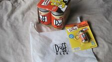 The Simpsons Duff Beer Dice Lyin' Dice Game + Duff Beer Keychain & Grocery Bag