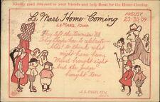 LeMars Le Mars IA 1909 Home Coming Advertising Postcard