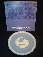 Wedgwood Blue Jasperware Christmas Plate 1969 Windsor Castle w/Box @9