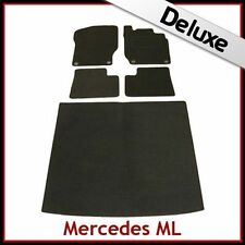 Tailored Car & Boot Mats LUXURY 1300g for MERCEDES ML W164 2005-2011 BLACK