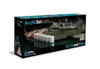 ITALERI ACRYLIC SET  6 BOTTIGLIETTE COLORI ACRILICI M.T.B. AND SHIPS   ART 434AP