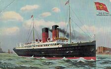 S.S.Viking,Twin-Stack Ocean Liner,Postcard,Isle of Man Steam Packet Line,c.1909