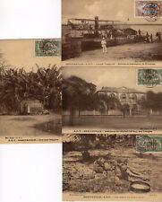 4 CPA CONGO service de passagers , case ,lions, résidence 1920 TB