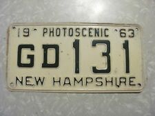 1963  NEW HAMPSHIRE LICENSE PLATE  FREE SHIPPING
