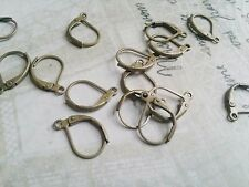 Leverback Earwires Ear Wires Antiqued Bronze Lever Earwires Earring Findings