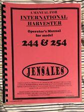 International Harvester 244 254 Tractor Operators Owners Manual Jensales