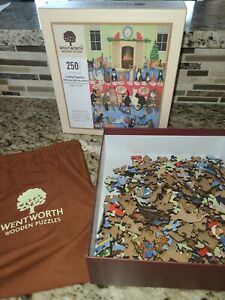 Wentworth 250 Piece Wooden Jigsaw Puzzle Getting Together Calico Cats Complete?