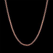 Erbsenkette Kette 18K GP Rose Gold Rotgold vergoldet Goldkette Halskette