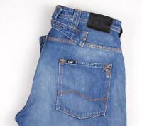 Lee Hommes Joey Ceinture Jeans Jambe Droite Taille W34 L36 APZ883