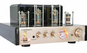 Madison Tube Amplifier - 2 X 25W RMS - MAD-TA10BT - USB Bluetooth CD/DVD inputs