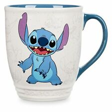 Disney Store STITCH SKETCH CHARACTER MUG 16 oz. Blue Ivory Coffee Cup Classics