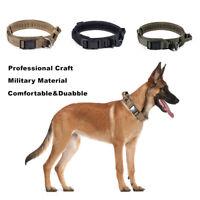 "1.5"" Tactical HEAVY DUTY Adjustable Dog Collar w/ Strong Handle Metal Buckle"