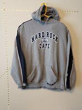 Hard Rock Cafe New York / Hoodie Sweatshirt Gray & Navy Striped
