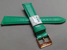ZRC Made in France Light Green Calfskin 20mm Watch Band Gold Tone Buckle $16.95