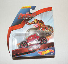NEW Hot Wheels Marvel Avengers Age of Ultron Iron Man on Bike, Car