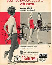 PUBLICITE ADVERTISING 044  1960  BALMORAL   pantalon maillot de bain