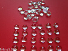 white topaz cabochon gemstones 6mm round rose cut £3.50p each.
