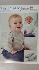 Peter Gregory Knitting Pattern #808 to Knit Baby Jumper, Socks & Hat in 8 Ply