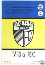 EC III 81/82 Carl Zeiss Jena - Real Madrid (75 x EC)