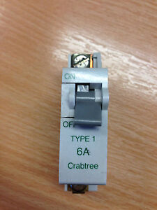 CRABTREE TYPE1 6A MCB
