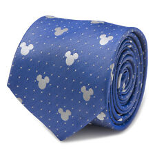 Disney Mickey Mouse Blue Pin Dot Mens Tie, Officially Licensed