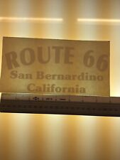 Route 66 San Bernardino California   -  WHITE - Vinyl Sticker Decal - Y7-2.720