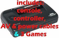 Probado En Caja Sega Master System II 2 + 3 Paquete De Juegos + Sonic + mando #1