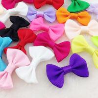 40pcs Mini Grosgrain Ribbon Bow Flowers Wedding decoration Appliques-star A169