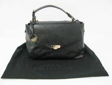 Versace Collection Women's Leather Handbag, Nero-Oro Chiaro
