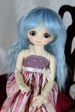 "1/6 5-6"" BJD DOLL WIG LATI TINY TONNER PUKIFEE BLUE MIX WAVY BANGS JR34 USA LOC"