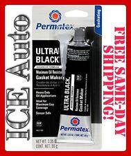 Permatex ULTRA BLACK 82180 Max Oil Resistance RTV Silicone Gasket Maker 3.35oz