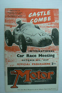1955 MOTOR RACING PROGRAMME @ CASTLE COMBE . COLIN CHAPMAN