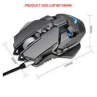 ZERODATE X300GY USB Wired 4000DPI 7D Optical Gaming Maus LED Backlight zss