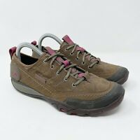 Merrell Mimosa Stone Trail Shoes Hiking Brown Nubuck Sneakers Women's Size 8