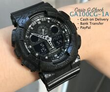 Casio G Shock * GA100CG-1A Anadigi Cracked Pattern Black Resin Watch COD PayPal
