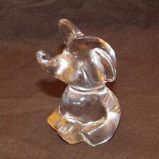 Éléphant en cristal de Daum signé Nancy France