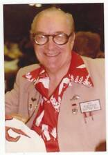 "Photo of FORREST ACKERMAN at 1984 convention wearing badge ""FIRST FAN FACE"""