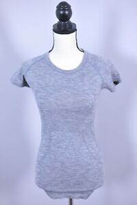 Lululemon Run Swiftly Tech SS Shirt Gray Heather Women's 4