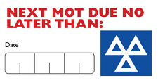 MOT Reminder Stickers  Self Adhesive 120 Labels 64mm x 34mm